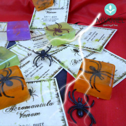 Σαπούνι γλυκερίνης με ένθετη αράχνη πλαστική