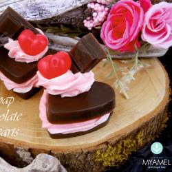 Γεμιστές, σοκολατένιες καρδιές